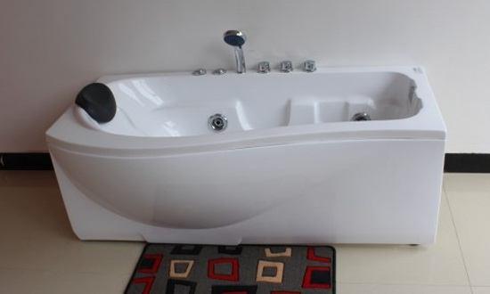 P Shaped Bath P Shaped Whirlpool Bath 1500 1600 1700 Mm