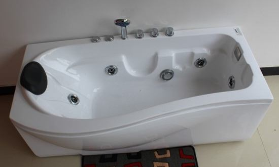P Shaped Bath P Shaped Whirlpool Bath 1500 1600 1700 Mm