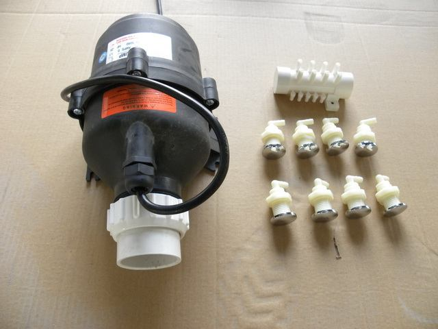Nozzles And Pump For Jetted Tub