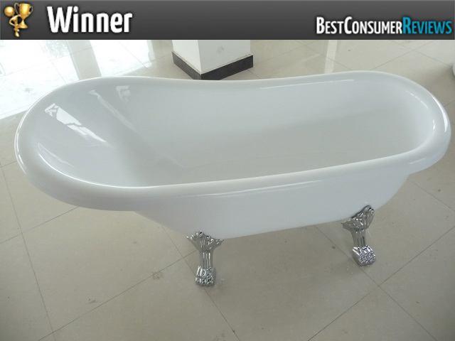 top rated bathtubs acrylic slipper clawfoot tub