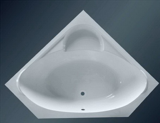 53 inch large corner bathtub 1350mm for Small baths 1100