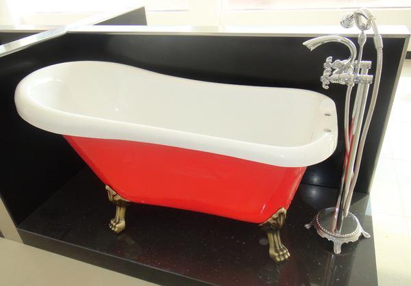 1500mm 1600mm 1700mm Acrylic Slipper Clawfoot Tub