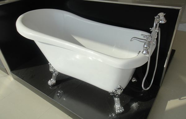 1500mm 1600mm 1700mm acrylic slipper clawfoot tub with faucet