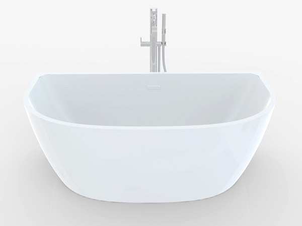 D Shaped Freestanding Bath
