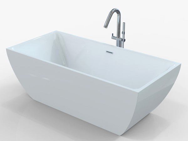 Freestanding bath 1700 x 800 with freestanding tub faucet
