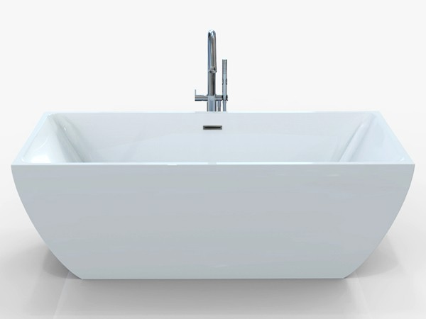 Freestanding bath 1700 x 800 mm front view