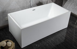 narrow freestanding bathtub