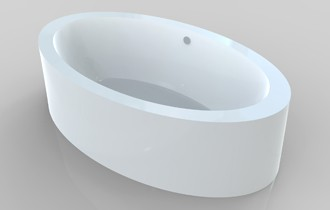 two person freestanding tub
