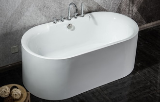 one piece freestanding bath