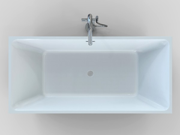 Freestanding rectangular bathtub top view
