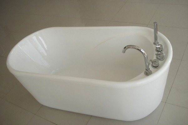 55 inch acrylic free standing soaking tub 1400mm for Steel bath vs acrylic