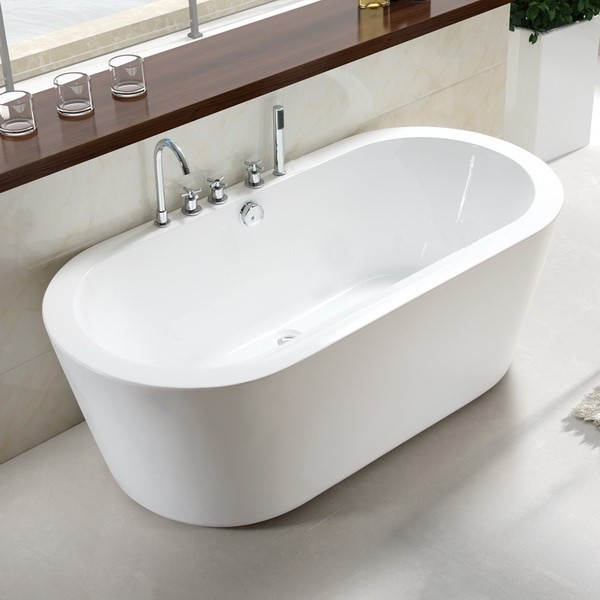 71 inch acrylic freestanding soaking tub with faucet drilling