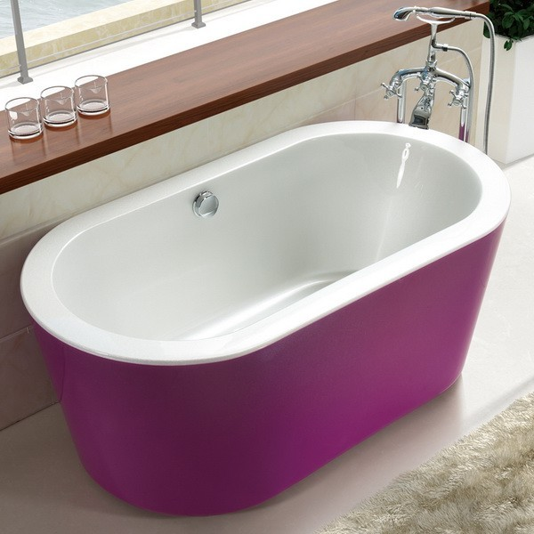 71 inch acrylic freestanding soaking tub 1800mm for Drop in tub vs freestanding