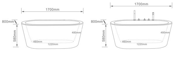 freestanding tub specification sheet