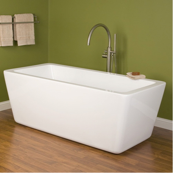 67 inch acrylic free standing soaking tub 1700mm for Steel bath vs acrylic