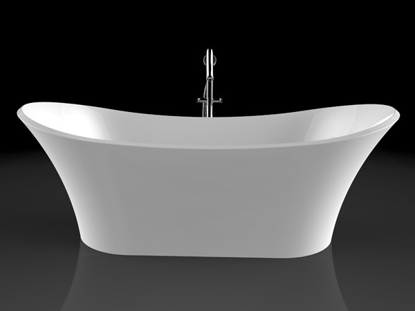Roll top freestanding bath front view