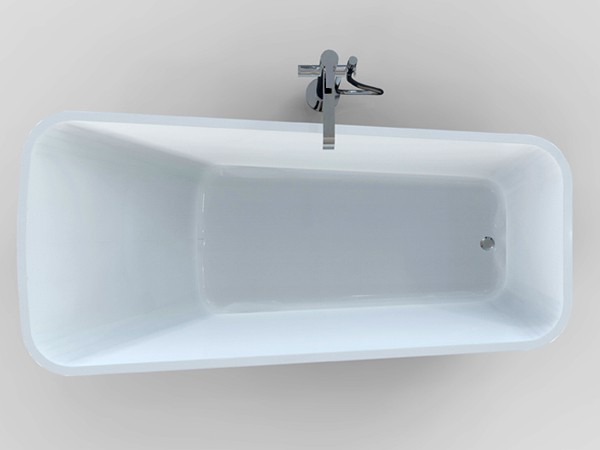 Single ended freestanding bath top view