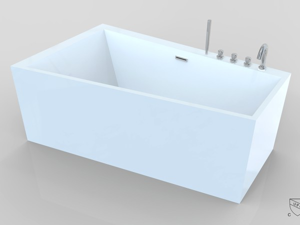trapezoidal bathtub