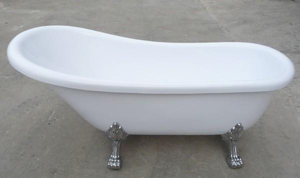 55 Inch Acrylic Slipper Clawfoot Bathtubs