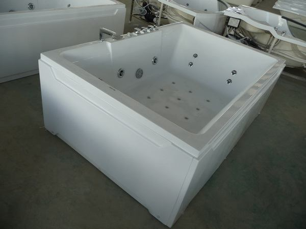 freestanding soaking tub for two. 2 person whirlpool tub from top and side view Person Whirlpool Tub  1800 x 1200 730 mm 71 47 29