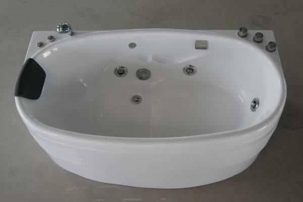 Oval whirlpool tubs from top view