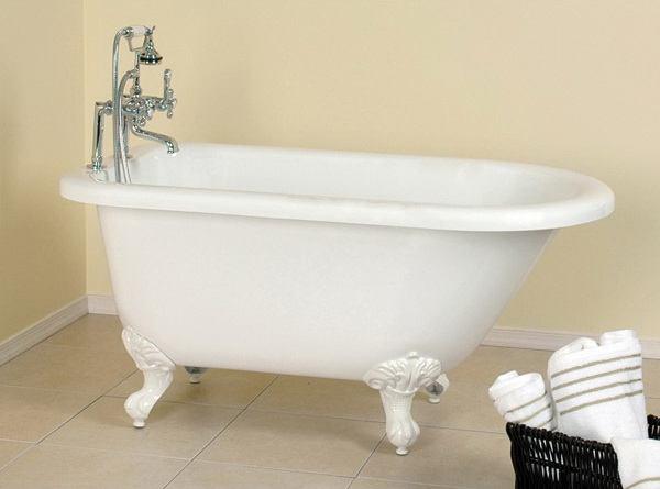 54 inch acrylic classic clawfoot bathtub