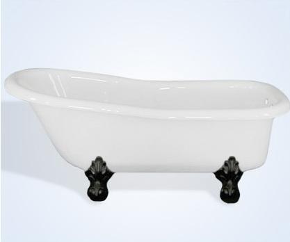 60 Inch Slipper Acrylic Clawfoot Tub