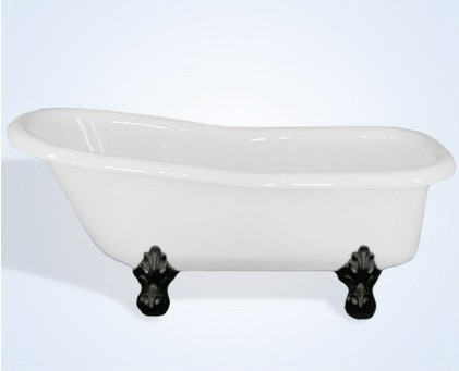 60 Inch Slipper Acrylic Clawfoot Tub No Faucet Drillings