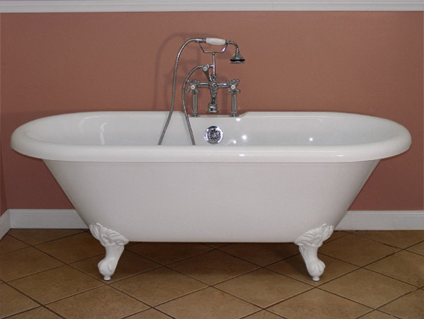 double slipper clawfoot tub acrylic. clawfoot bathtub  alpine 6u0027 acrylic double slipper tub Acrylic Clawfoot Tub Barclay 60in White Bathtub