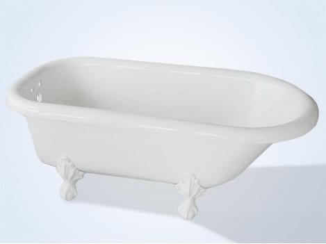 60 Inch Roll Top Clawfoot Bathtub