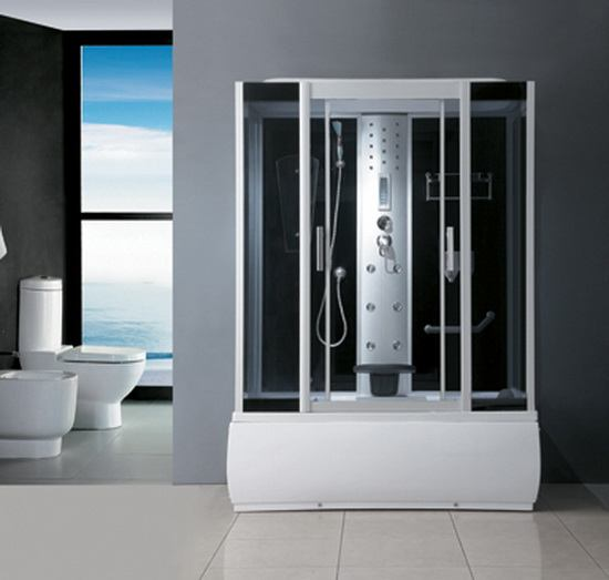 59 Inch Steam Shower Whirlpool Combination Unit 1500 Mm
