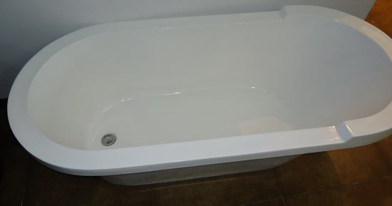 1625mm, 64 inch deep soft tub from top view