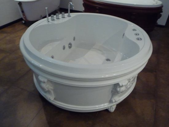 65 inch round freestanding soft tub