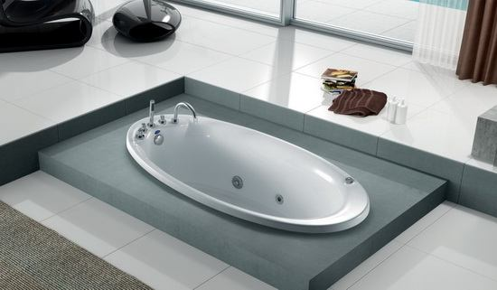 Oval soaking soft bathtub 70 5 inch 1785 mm - Soft tube whirlpool ...
